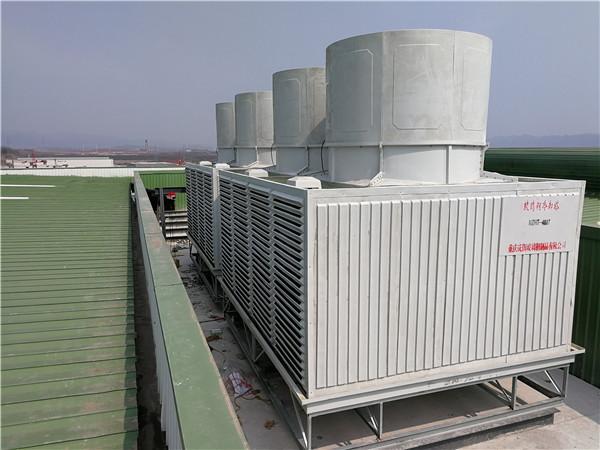 重庆-方形冷却塔400T安装