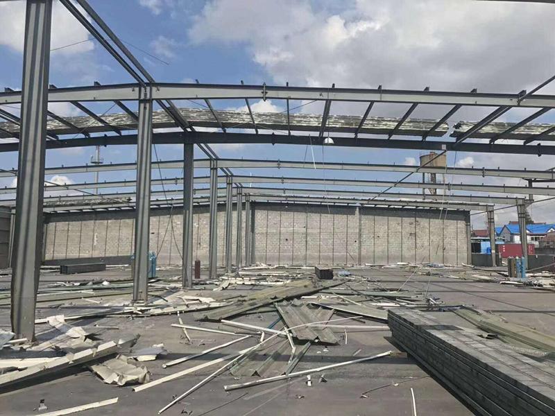 丹棱钢结构厂房施工