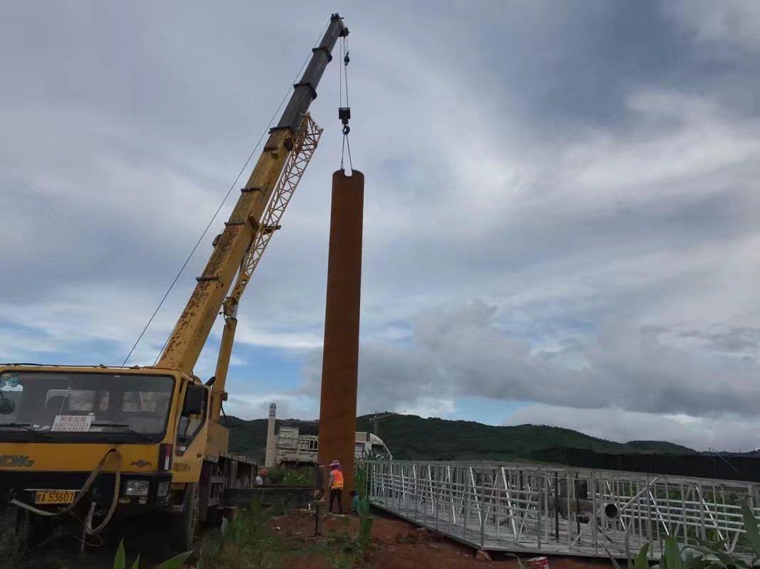 单立柱安装