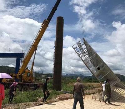 文山11颗单立柱工程案例2