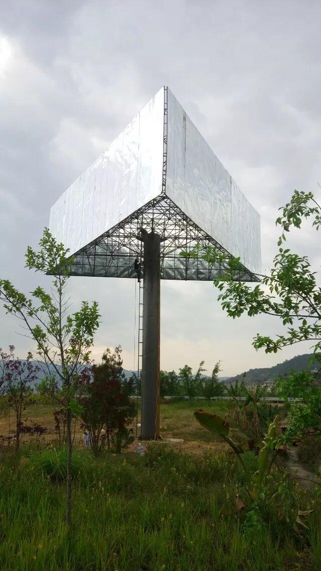 三面单立柱