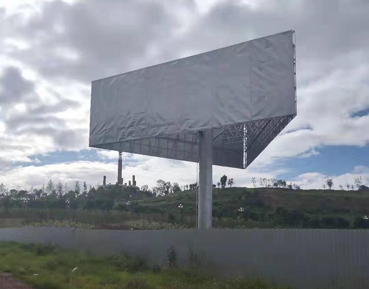 单立柱三面广告牌