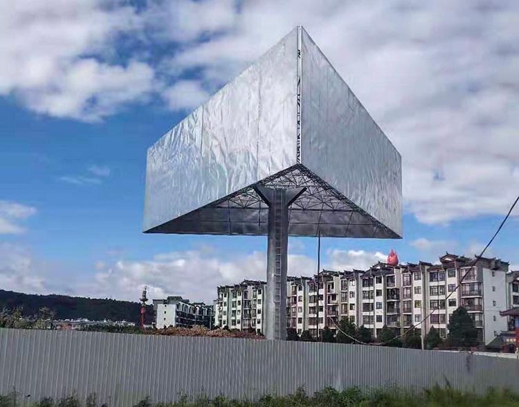 单立柱三面广告牌制作