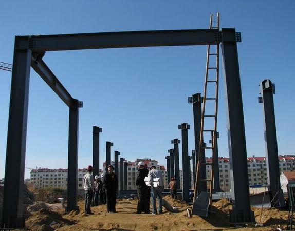 钢结构廊架施工