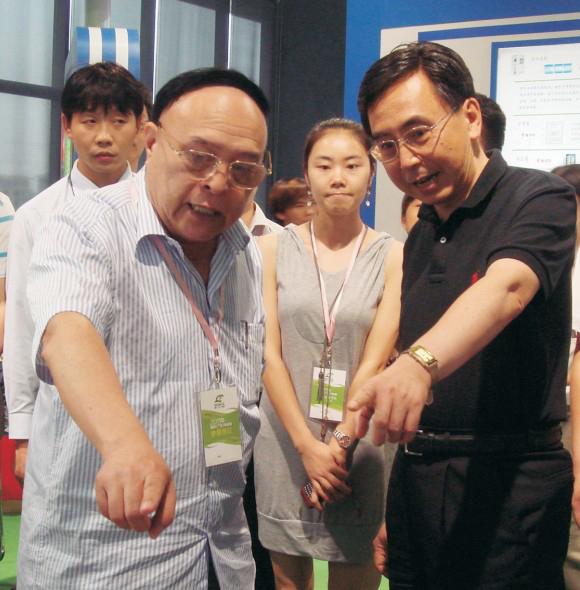 广东省省长朱小丹对董事长茹兆祥的工作指导