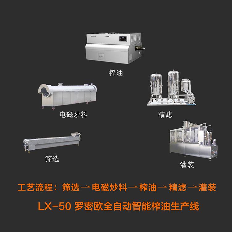 全自动智能榨油生产线 LX-50