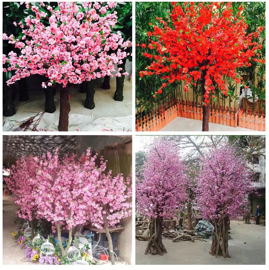 室外仿真桃花树