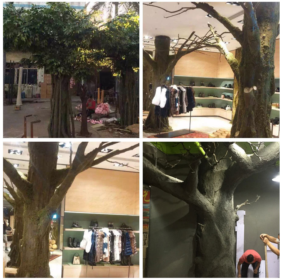成都室外水泥树定制