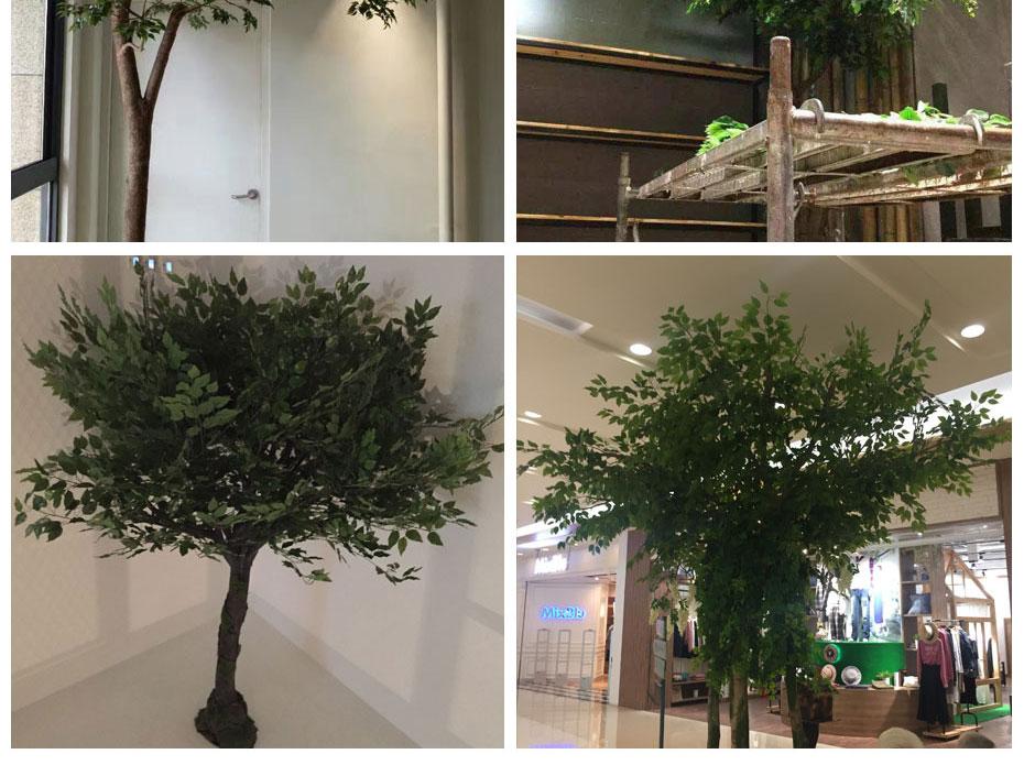 成都商场仿真榕树