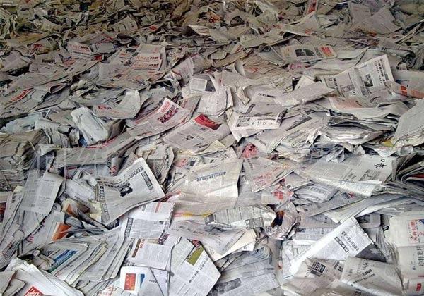 数据显示我国的废纸回收率是比较低的