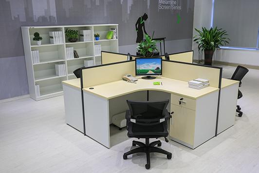 中山办公家具厂家直销介绍板式办公家具的的贴面材料