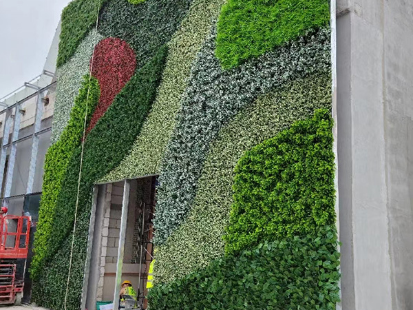 户外垂直绿化植物墙