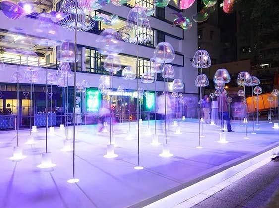 商场泡泡棒美陈雕塑