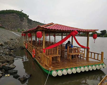 竹筏是江南水乡重要的家庭工具