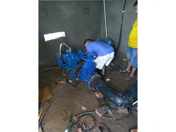 2019年7月,中开泵安装现场