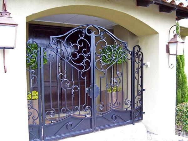 绵阳铝艺庭院大门的内部结构
