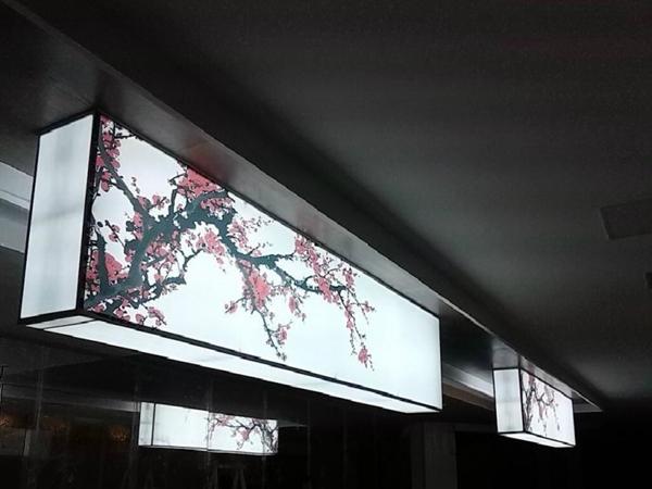 商场饭店安装软膜灯箱案例