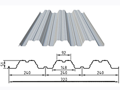YX51-240-720型镀锌压型楼承板
