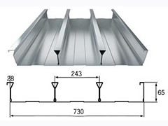 YX65-243-730型闭口压型楼承板