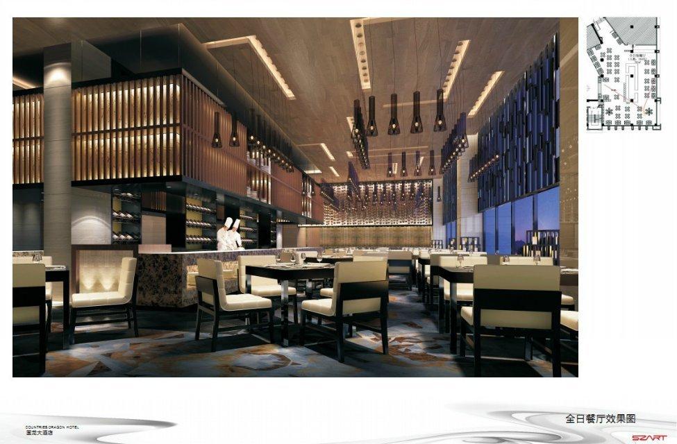 三,酒店会所空间装修设计中可适当软化环境       现代酒店会所