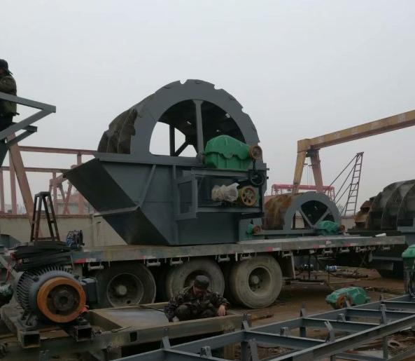 车载移动破碎制砂洗沙设备生产中