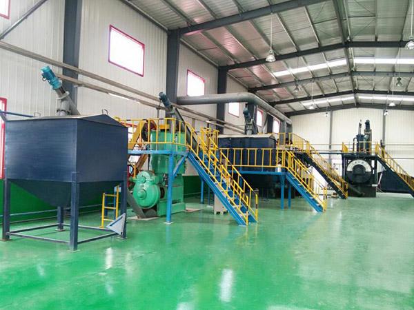 山东平度无害化处理中心根据原料量安装30吨产量干化机