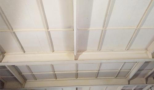 厂房顶钢结构防腐涂料施工后
