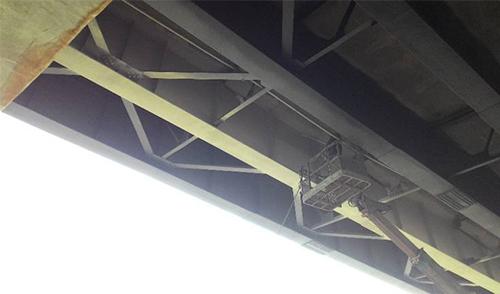钢结构桥梁无机涂料施工后