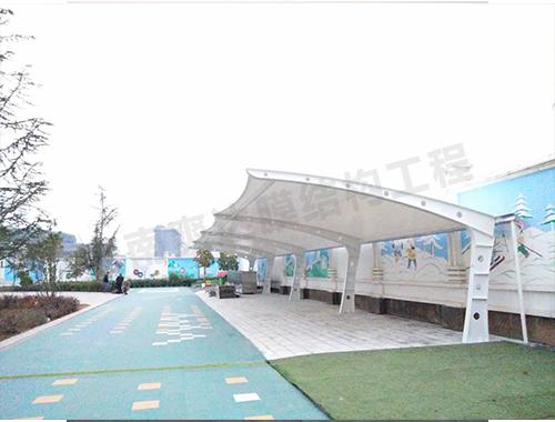 停车棚景观膜结构