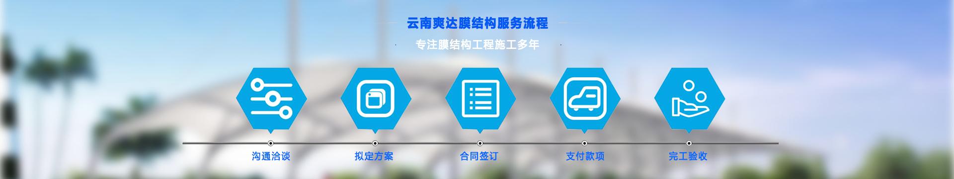 昆明爽达膜结构工程公司服务流程