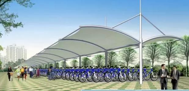 「自行车膜结构停车棚」质量的鉴别方法