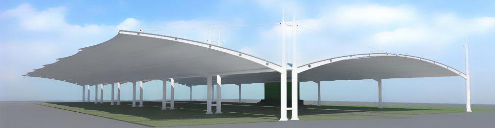 讲解一下膜结构停车棚的制作要严格要求