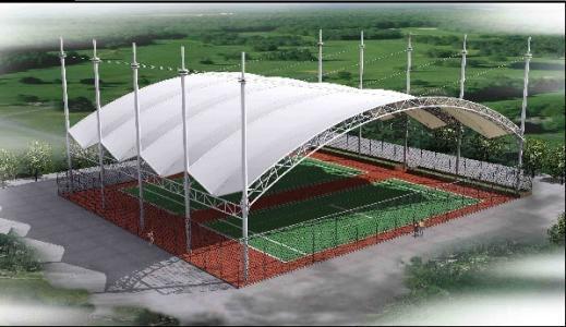 網球場膜結構