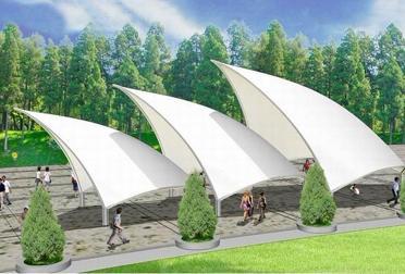 园林别墅景观膜结构