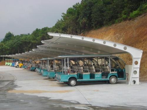 景观区膜结构车棚