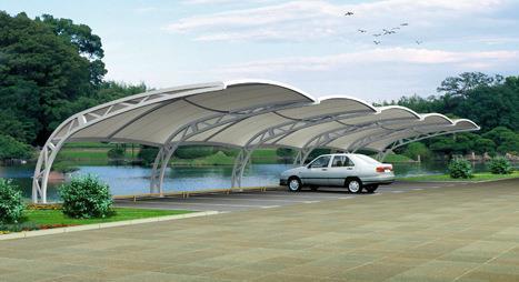 介绍膜结构停车棚厂家设计过程