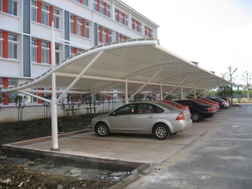 医院膜结构车棚
