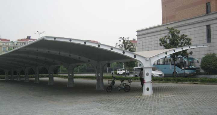 来宾膜结构自行车棚