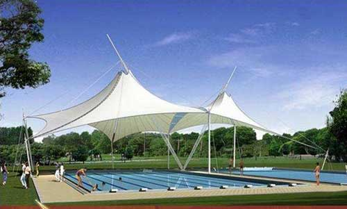 海口游泳馆池膜结构