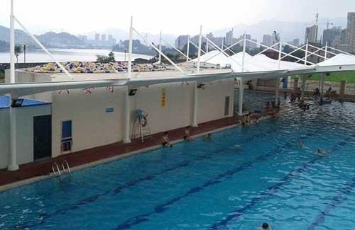 三亚游泳馆池膜结构