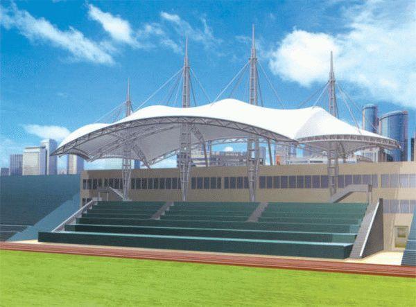 新型体育场看台膜结构