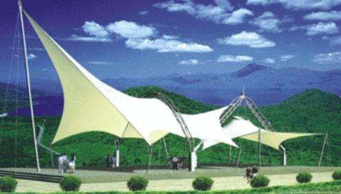 张拉膜结构展馆