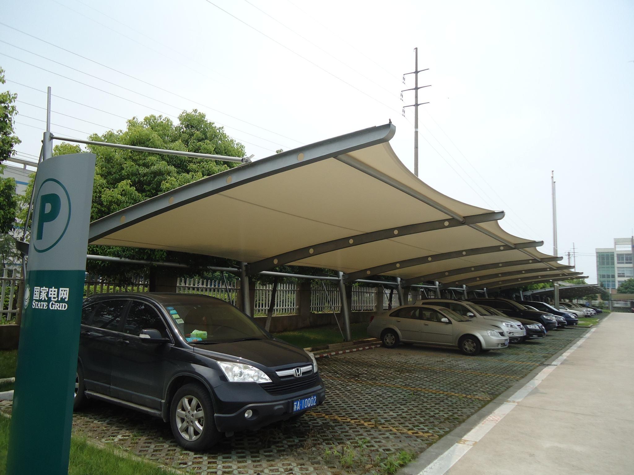 使用广泛的膜结构车棚的材料使用寿命长