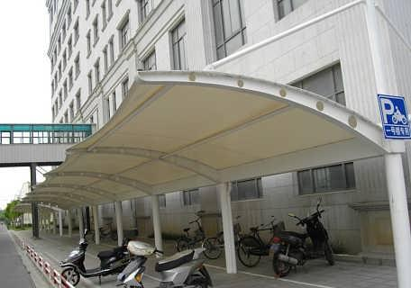 医院凉亭膜结构车棚