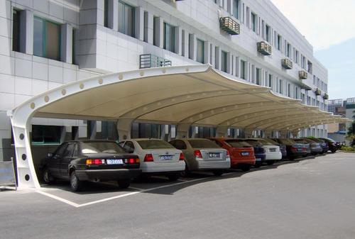 工厂膜结构汽车棚