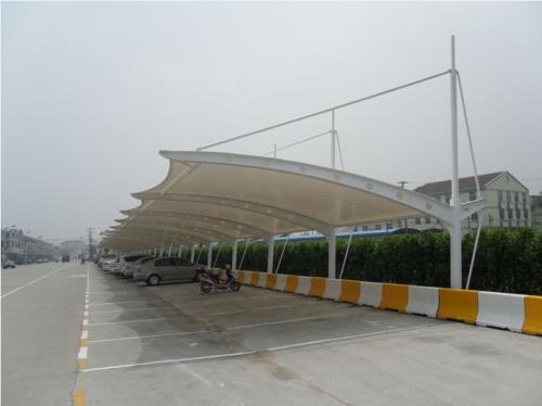 工厂膜结构停车棚工程