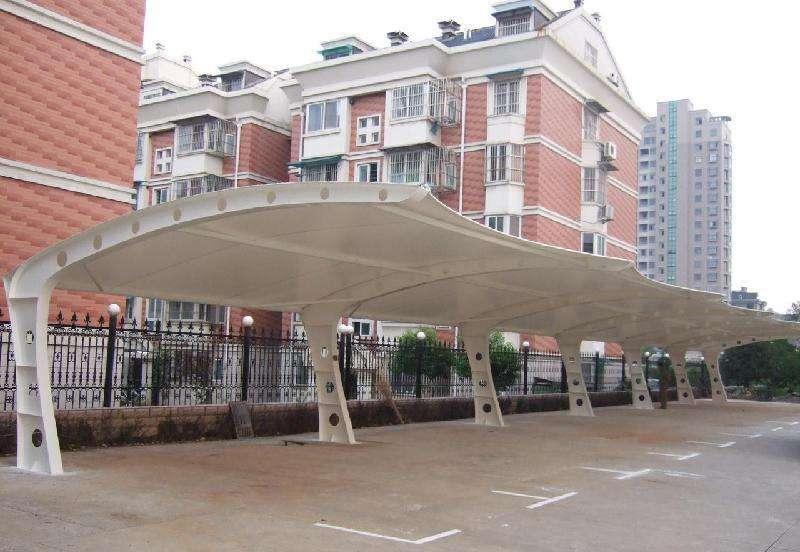 7字型膜结构停车棚
