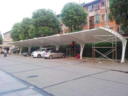 7字型膜结构停车棚厂