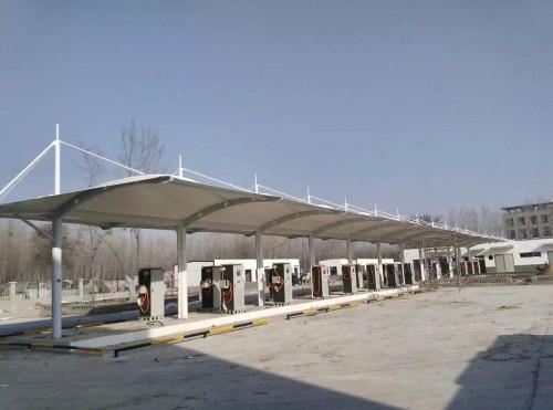 山东膜结构充电桩停车棚