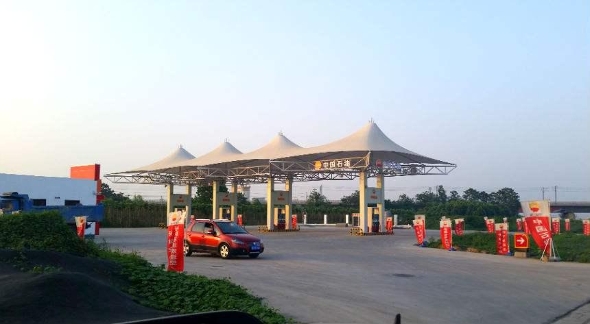 加油站膜结构顶棚